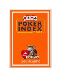 Poker Index Casino Playing Cards Modiano Orange