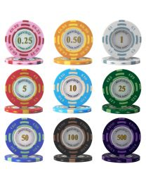 Poker chip set Monte Carlo 300