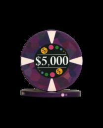 5000 Dollar chips ceramic Mosaic