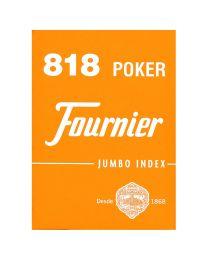 818 Poker Fournier playing cards orange