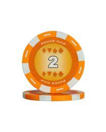Orange color poker chips 2