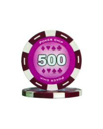 Purple color poker chips 500