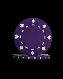 Poker chips Suit purple