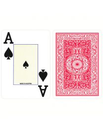 Plastic Poker Cards Piatnik Jumbo Index Red