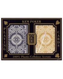 KEM poker cards arrow gold and black