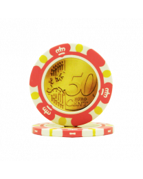 Poker chips Euro design €0.50