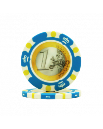 Poker chips Euro design €1