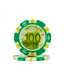 Poker chips Euro design €100