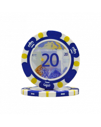 Poker chips Euro design €20