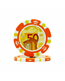 Poker chips Euro design €50