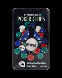 Professional poker chips fine gift set