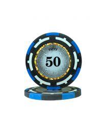 Macau Poker Chips Fifty