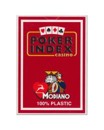 Poker Index Casino Playing Cards Modiano Red