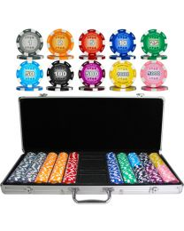 Poker set color chips 500