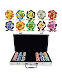 Poker case Euro design 300 chips
