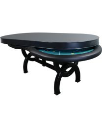 Poker table dining top grey