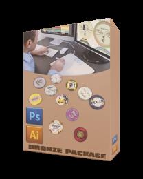 Custom poker chip designer bronze package