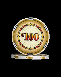 Ceramic poker chips classics €100