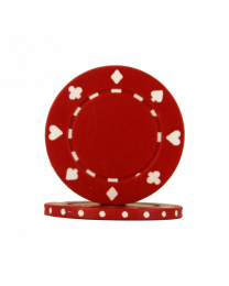 Poker chips Suit red