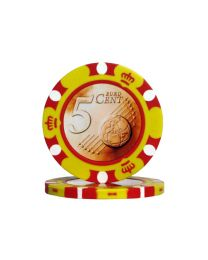 Poker chips Euro design €0.05
