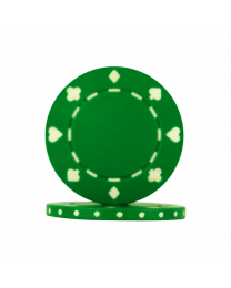 Poker chips Suit green