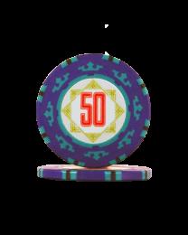 Pokerchips Carta Mundi 50