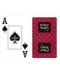 COPAG Plastic Playing Cards PokerStars Red