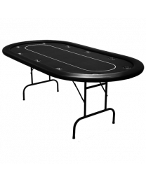 Poker table tournament black