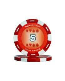 Red color poker chips 5