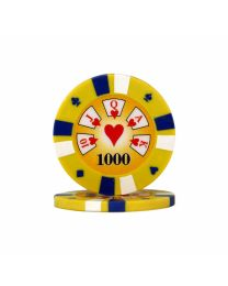 Royal Flush Poker Chips 1000
