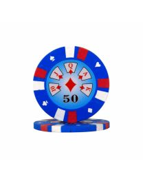 Royal Flush Poker Chips 50