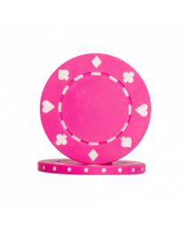 Poker chips Suit pink