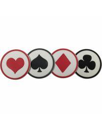 Casino coaster set of 4