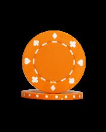 Poker chips Suit orange
