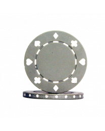 Poker chips Suit grey