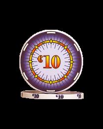 Ceramic poker chips classics €10