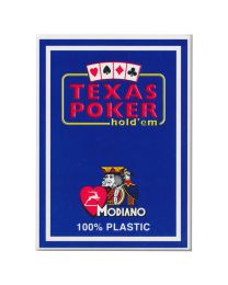 Plastic Playing Cards Modiano Texas Poker Blue