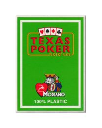 Plastic Playing Cards Modiano Texas Poker Light Green