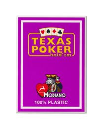 Plastic Playing Cards Modiano Texas Poker Purple