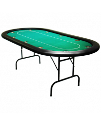 Poker table tournament green
