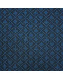 Two-tone suited speed poker card table cloth blue