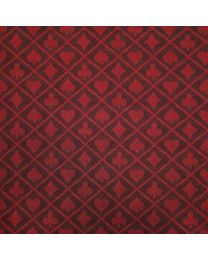 Two-tone suited speed poker card table cloth red
