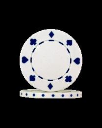 Poker chips Suit White