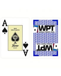WPT Gold Edition Blue Poker Playing Cards by Fournier