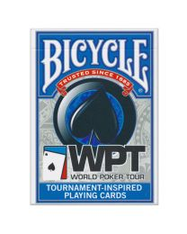 World Poker Tour Playing Cards Bicycle Blue