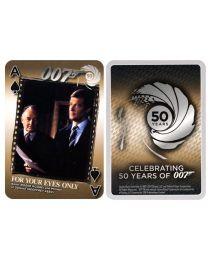James Bond kaarten 50 jaar zilver