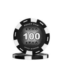 Black color poker chips 100
