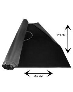 Black poker table cloth with betline