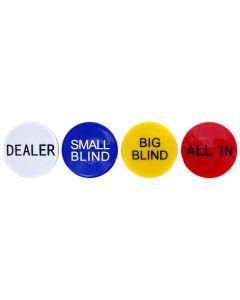 Set of 4 Dealer Buttons