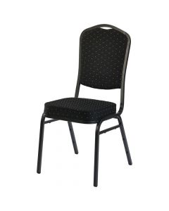 Poker Stacking Chairs Cash Game Black